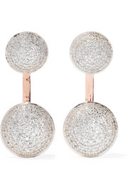 Monica Vinader Stellar rose gold-plated diamond earrings