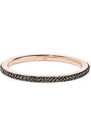 Monica Vinader Skinny rose gold-plated diamond ring