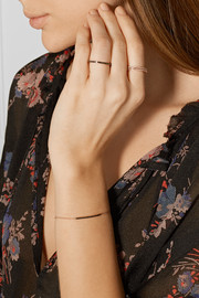 Monica Vinader Skinny rose gold vermeil diamond ring