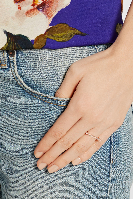 Monica Vinader Skinny rose gold vermeil diamond ring