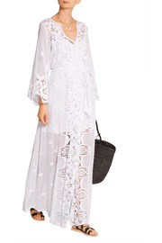 Miguelina Lucinda crocheted cotton-lace dress