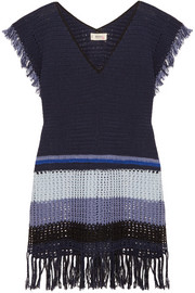 Kidan fringed crocheted cotton dress