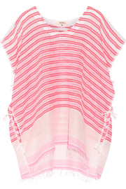 Selina striped cotton-blend gauze kaftan