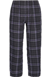 Skin Donna plaid stretch cotton-gauze pajama pants