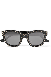 Saint Laurent Lou studded D-frame acetate sunglasses