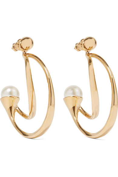 Chloé - Darcey Gold-plated Faux Pearl Earrings - one size