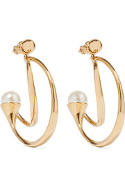 Chloé Darcey gold-plated faux pearl earrings