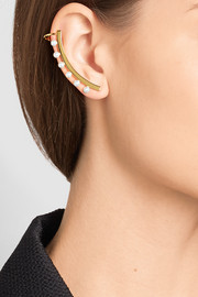 Chloé Darcey gold-plated faux pearl ear cuff