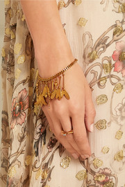 Keira gold-plated charm bracelet