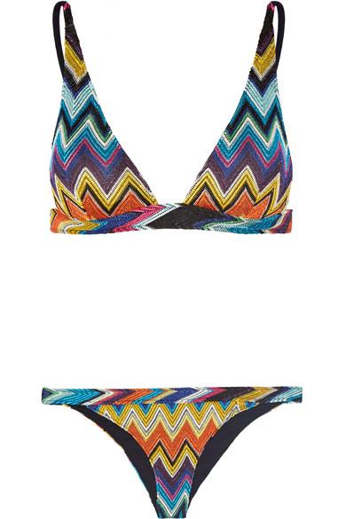 879f20b2973b3 Missoni   Mare metallic crochet-knit triangle bikini   NET-A-PORTER.COM