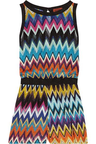 Missoni - Mare Crochet-knit Playsuit - Magenta