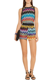 Missoni Mare crochet-knit playsuit