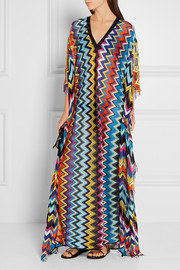 Missoni Mare fringed crochet-knit kaftan