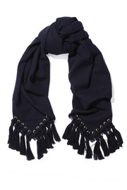 Chloé Eyelet-embellished wool, silk and cashmere-blend scarf