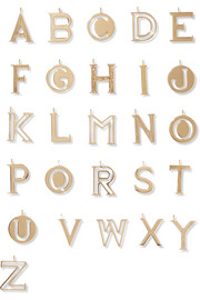 Chloé Alphabet gold-plated wallet charm