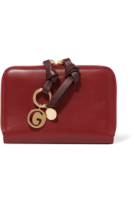 Chloé Alphabet gold-plated wallet charm