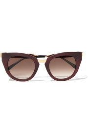 Thierry Lasry Snobby cat-eye matte-acetate and gold-tone sunglasses