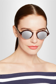 Illesteva Milan IV Havana gold-tone and acetate mirrored sunglasses