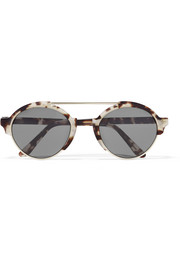 Illesteva Milan III acetate and metal round-frame sunglasses