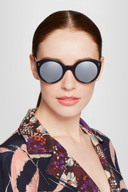 Illesteva Palm Beach cat-eye acetate mirrored sunglasses