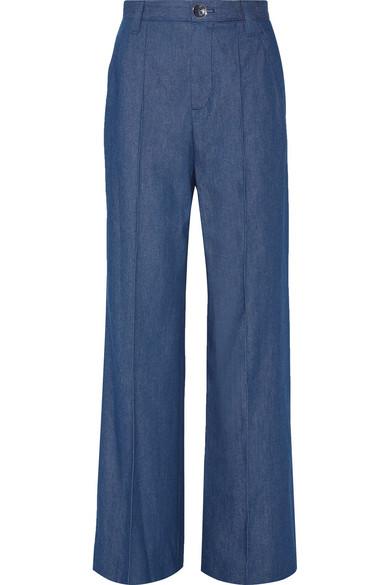 marc jacobs female 201920 marc jacobs bowie denim wideleg pants blue