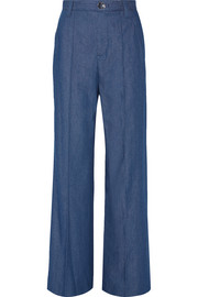 Bowie denim wide-leg pants