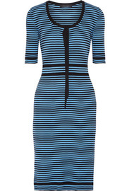 Striped ribbed cotton dress