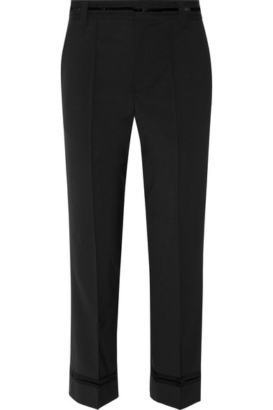 marc jacobs female 188971 marc jacobs bowie cropped stretchwool straightleg pants black