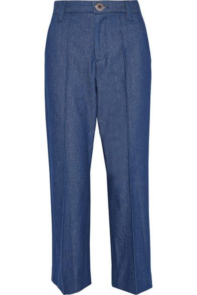 marc jacobs female 201920 marc jacobs bowie cropped denim straightleg pants blue