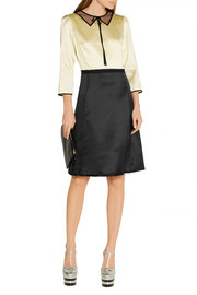 Marc Jacobs Two-tone silk-satin dress