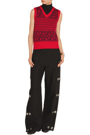 Marc Jacobs Metallic Fair Isle wool-blend sweater