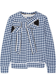 Marc Jacobs Bow-embellished gingham cotton-jersey sweatshirt