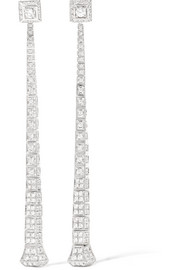 Chiodo 18-karat white gold diamond earrings