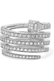 Chiodo 18-karat white gold diamond ring