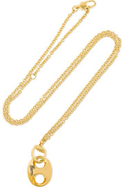 Horsebit 18-karat gold necklace