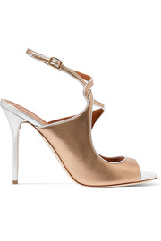 Della metallic leather sandals