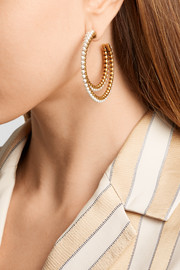 Marc Jacobs Gold-plated faux pearl hoop earrings
