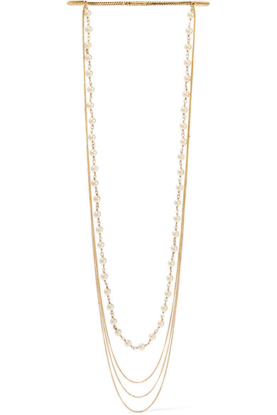 Marc Jacobs - Gold-plated Faux Pearl Necklace