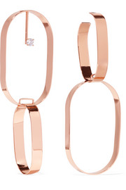 Maison Margiela Rose gold-plated crystal earrings