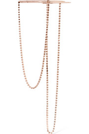 Rose gold-plated crystal necklace