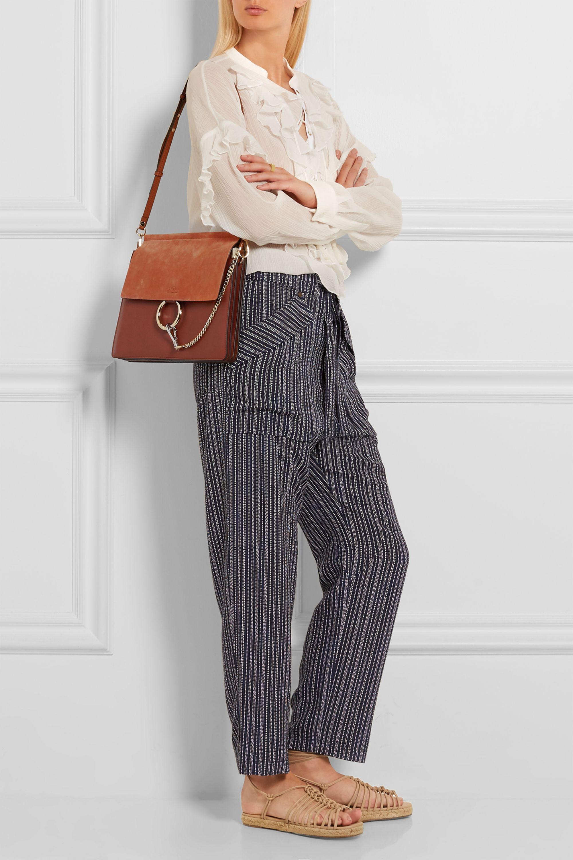 Chloé Faye medium leather and suede shoulder bag