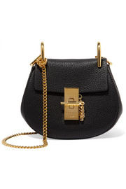 Drew nano textured-leather shoulder bag