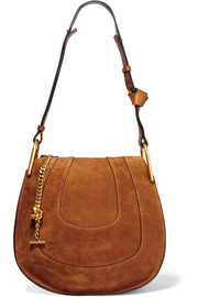 Hayley small suede shoulder bag
