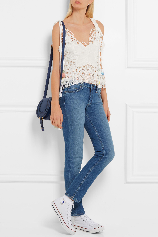Chloé The Marcie mini textured-leather shoulder bag
