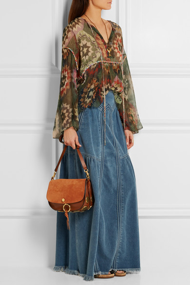 replica chloe bags - Chlo�� | Kurtis medium suede and leather shoulder bag | NET-A ...