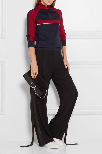 cloe bag - Chlo�� | Faye leather and suede clutch | NET-A-PORTER.COM