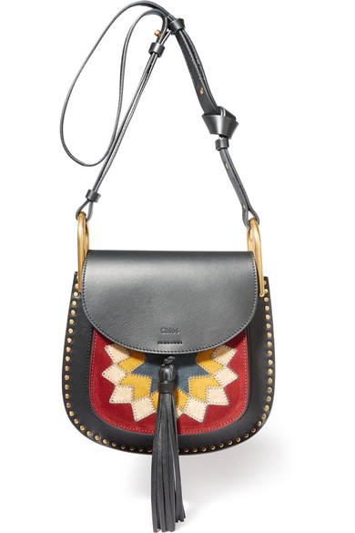 Chloé - Hudson Wonder Woman Small Leather And Suede Shoulder Bag - Black