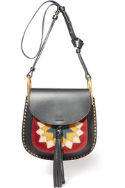 Hudson Wonder Woman small leather and suede shoulder bag