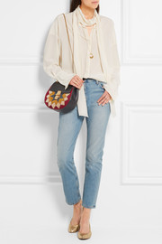 Chloé Drew Wonder Woman small suede and leather shoulder bag