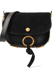 Chloé Kurtis small suede and leather shoulder bag